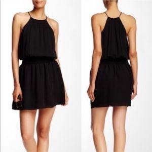 Joie   Nahal Silk Halter Style Dress Caviar Small